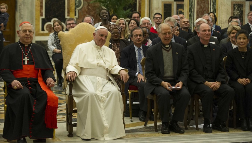 Pope praises JRS' 35 years of service