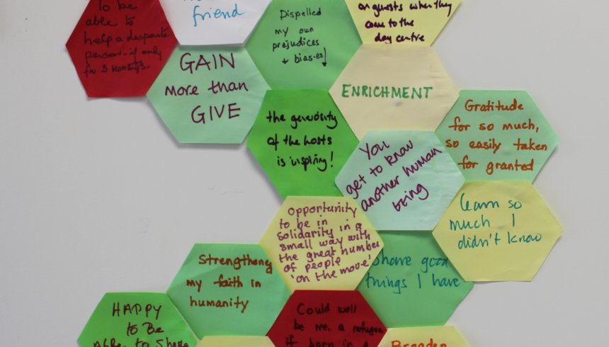'What we can offer is respect' – a time of reflection and sharing