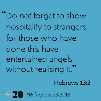 In welcoming the stranger we encounter angels