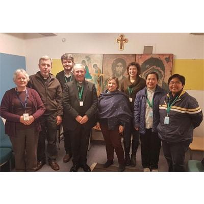 Bishop Paul Visits Harmondsworth with JRS UK