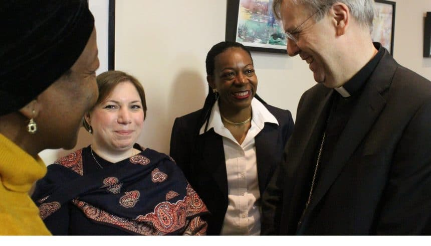 Bishop Nicholas receives warm welcome at JRS