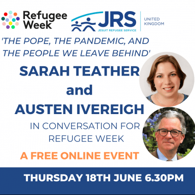 Sign up to attend Sarah Teather and Austen Ivereigh in conversation for refugee week