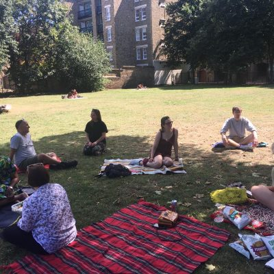 Staff and volunteers celebrate St Ignatius Day at socially-distanced picnic