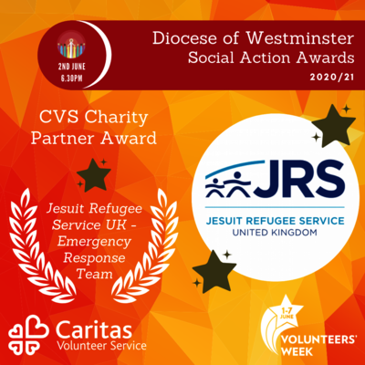 JRS volunteers celebrated at the Diocese of Westminster Social Action Awards