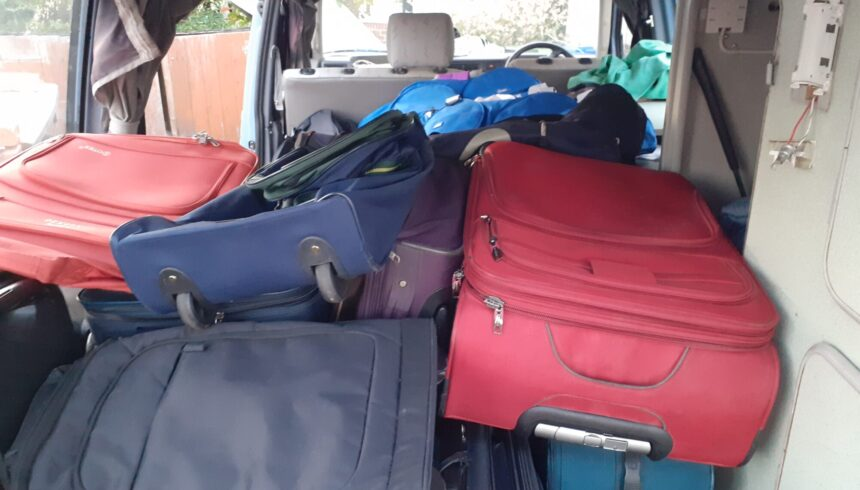 Donated bags restore dignity to men held at Napier barracks